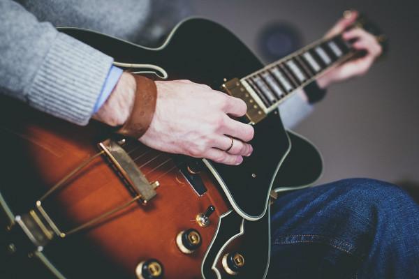 Inquadratura ravvicinata chitarra