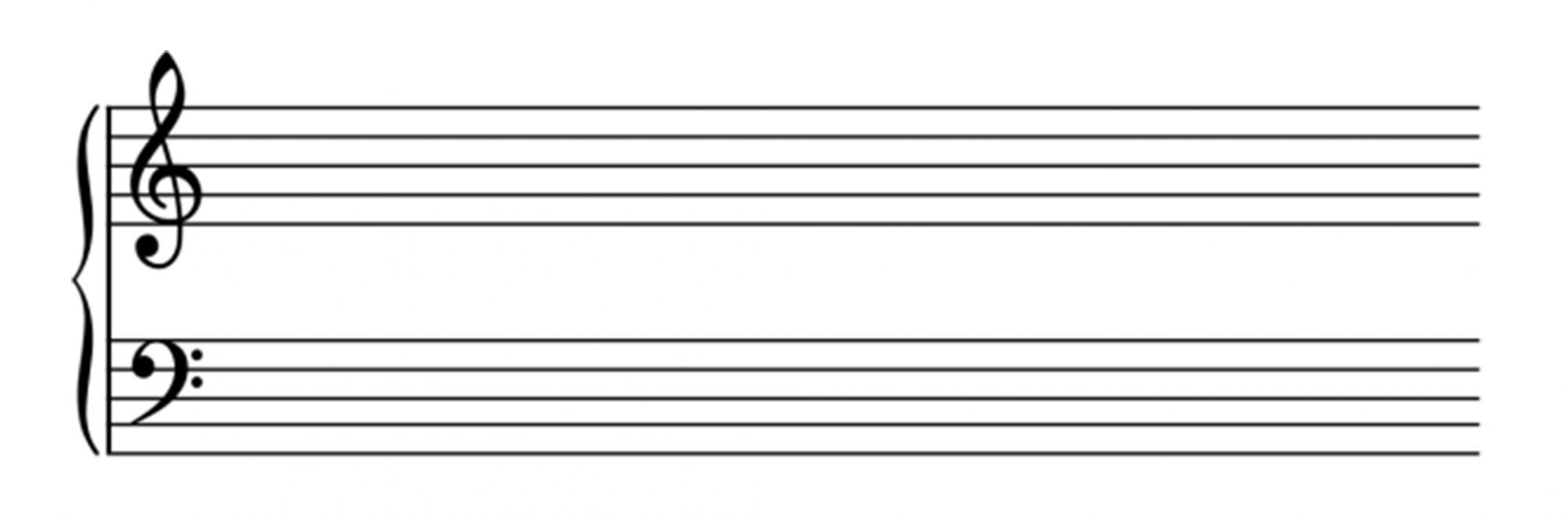 chiave di violino e chiave di basso partitura pianoforte